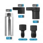 Набор спецголовок для снятия кислородных датчиков и восстановления резьбы (5 предметов)