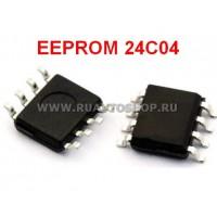 24C04 EEPROM SOP8 SOIC-8 Memory / Последовательная энергонезависимая память 24 серии