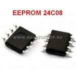 24C08 EEPROM SOP8 SOIC-8 Memory / Последовательная энергонезависимая память 24 серии
