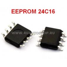 24C16 EEPROM SOP8 SOIC-8 Memory / Последовательная энергонезависимая память 24 серии