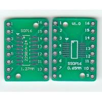 Адаптер SOP16/SSOP16/TSSOP16 на 0.65 и 1.27 мм