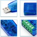 Преобразователь универсальный USB-RS485, защита от переходных процессов TVS с индикатором сигнала