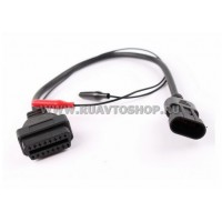 Переходник  с Alfa / Fiat 3-pin на OBD2 16 pin