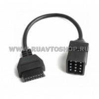 Переходник  с GAZ/UAZ 12 pin на OBD2 16 pin