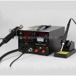 Термовоздушная паяльная станция YIHUA-853DA (компрессорная) (3 в 1) с паяльником и блоком питания