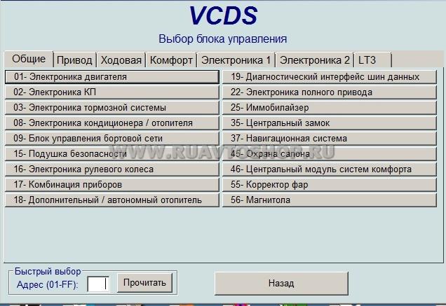 VCDS ВАСЯ ДИАГНОСТ VAG 12.12 русский